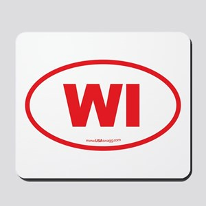 Wisconsin WI Euro Oval Mousepad