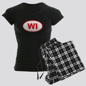 Wisconsin WI Euro Oval Women's Dark Pajamas