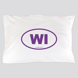 Wisconsin WI Euro Oval Pillow Case