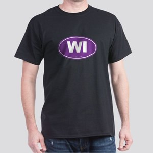 Wisconsin WI Euro Oval Dark T-Shirt