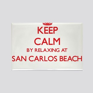 Keep calm by relaxing at San Carlos Beach Magnets