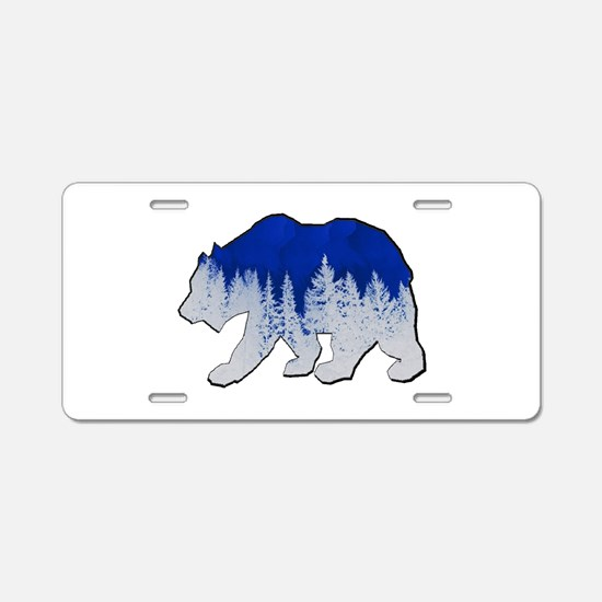 WINTER SHOWN Aluminum License Plate