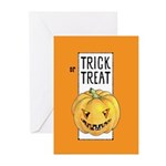 Halloween Trick or Treat Greeting Cards (Pk of 10)