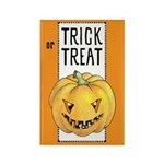 Halloween Trick or Treat Rectangle Magnet