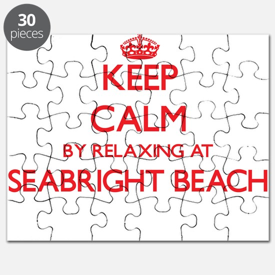 Keep calm by relaxing at Seabright Beach Ca Puzzle