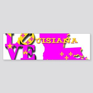 LOUISIANA LOVE PURPLE GOLD Bumper Sticker