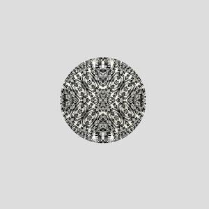 Tribal Shaman DMT Black White Mini Button