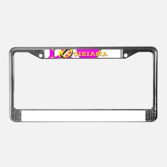LOUISIANA LOVE PURPLE GOLD License Plate Frame