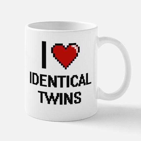 I love Identical Twins digital design Mugs