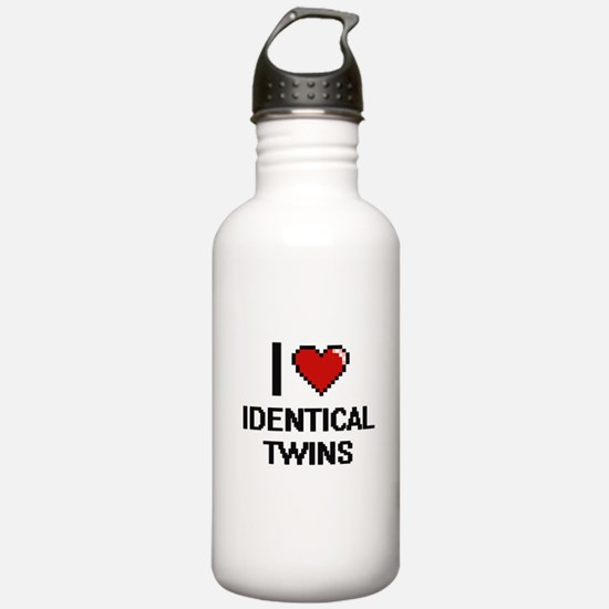I love Identical Twins Water Bottle