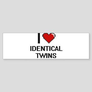 I love Identical Twins digital desi Bumper Sticker