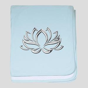 silver lotus baby blanket