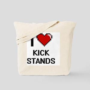 I love Kick Stands digital design Tote Bag