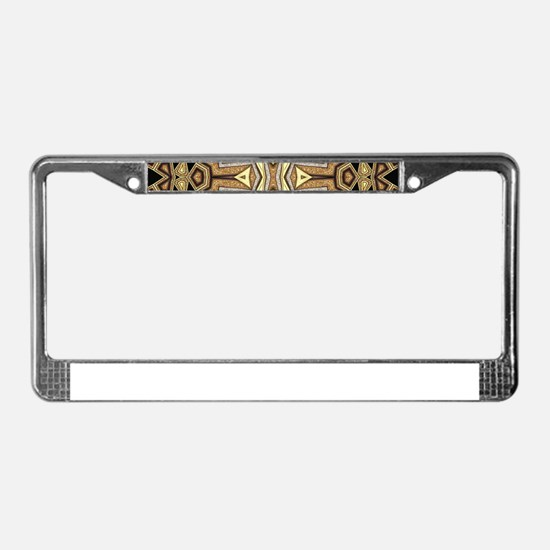 Tribal Art Deco May #1 License Plate Frame