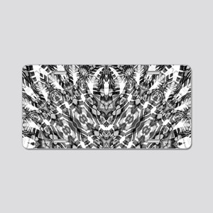 Tribal Shaman DMT Black Whi Aluminum License Plate