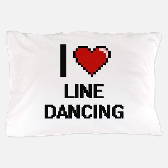 I love Line Dancing digital design Pillow Case