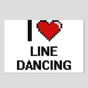 I love Line Dancing digit Postcards (Package of 8)
