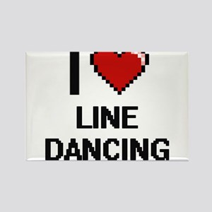 I love Line Dancing digital design Magnets