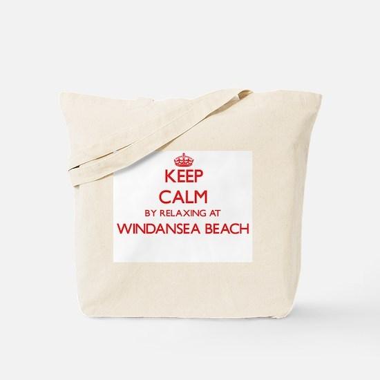 Keep calm by relaxing at Windansea Beach Tote Bag