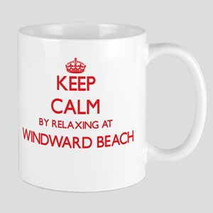 Keep calm by relaxing at Windward Beach New J Mugs