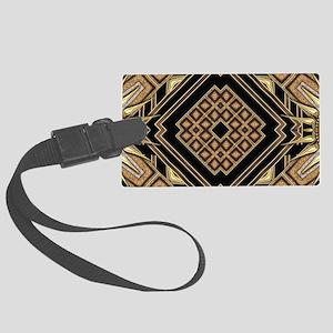 Art Deco Black Gold 1 Large Luggage Tag