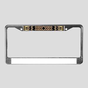 Art Deco Black Gold 1 License Plate Frame
