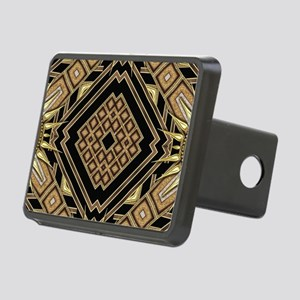 Art Deco Black Gold 1 Rectangular Hitch Cover
