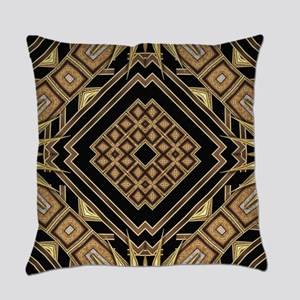 Art Deco Black Gold 1 Everyday Pillow