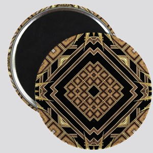 Art Deco Black Gold 1 Magnets