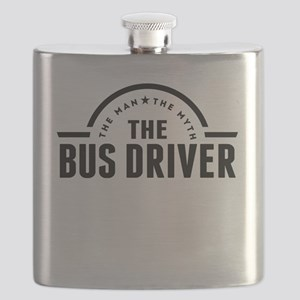 The Man The Myth The Bus Driver Flask