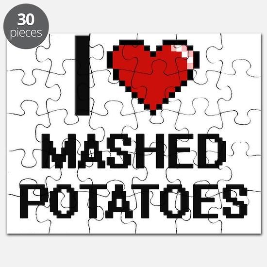 I love Mashed Potatoes digital design Puzzle