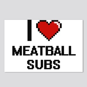 I love Meatball Subs digi Postcards (Package of 8)