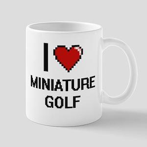I love Miniature Golf digital design Mugs