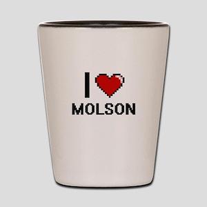 I love Molson digital design Shot Glass