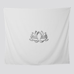 silver lotus Wall Tapestry