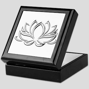 silver lotus Keepsake Box