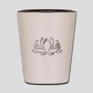 silver lotus Shot Glass