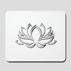 silver lotus Mousepad