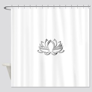 Silver Lotus Shower Curtain