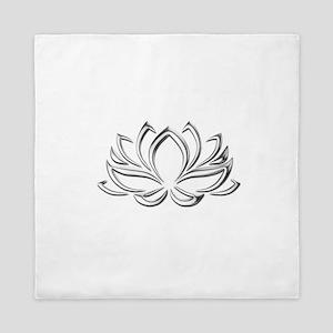 silver lotus Queen Duvet