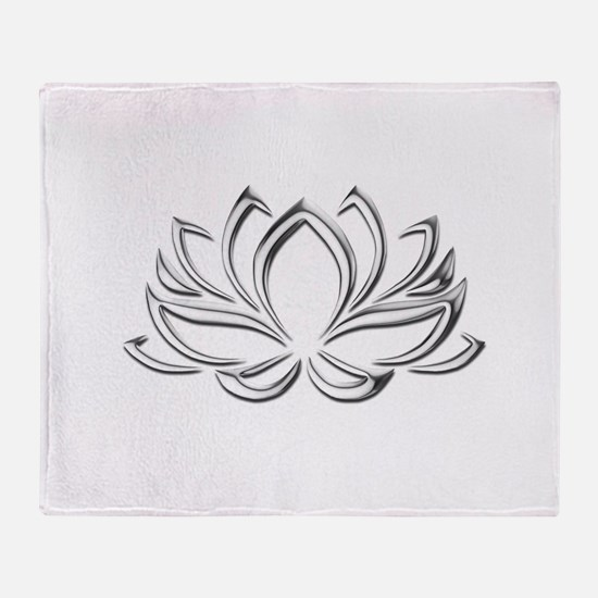 silver lotus Throw Blanket