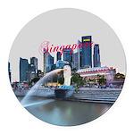Singapore Round Car Magnet