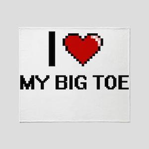 I love My Big Toe digital design Throw Blanket