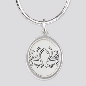 silver lotus Necklaces