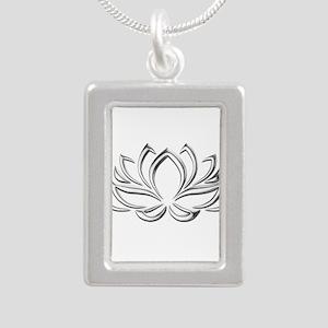 silver lotus Necklaces