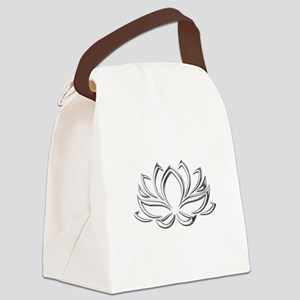 silver lotus Canvas Lunch Bag