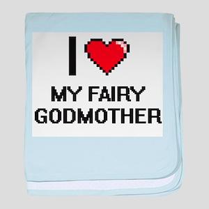 I love My Fairy Godmother digital des baby blanket
