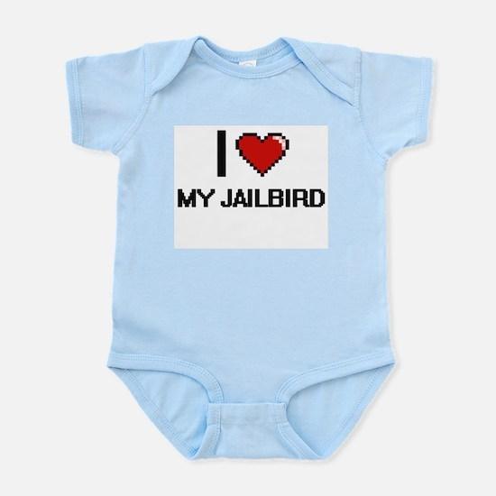 I love My Jailbird digital design Body Suit