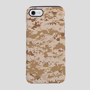 Desert pixels Camouflage iPhone 8/7 Tough Case