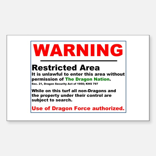 Dragon Force Warning Rectangle Decal
